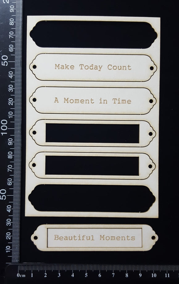 Laser Engraved Word Plates - CA - White Chipboard