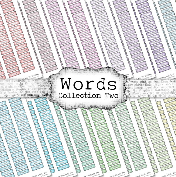 Words - Collection Two - DI-10091 - Digital Download