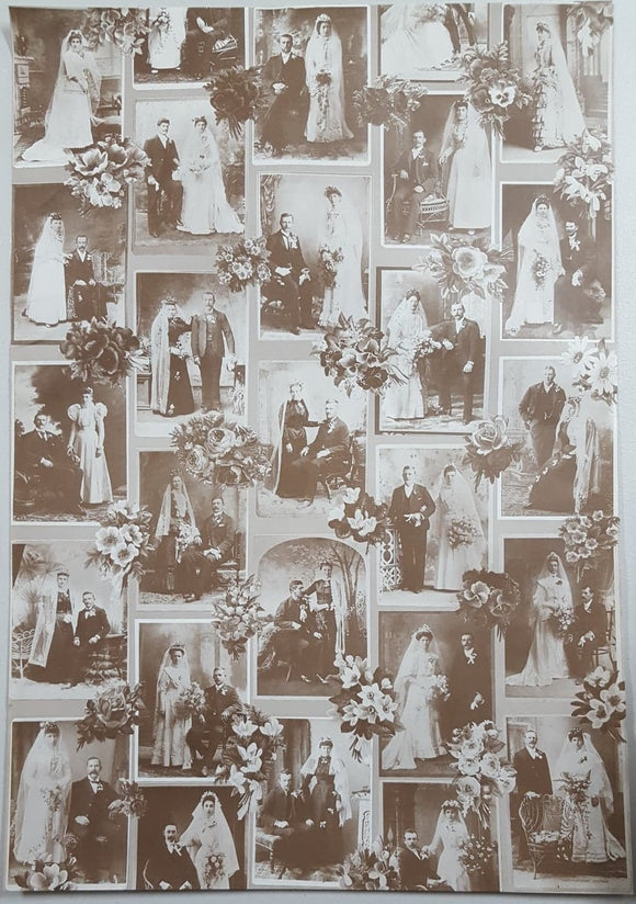 Vintage Wrapping Paper - Wedding Images