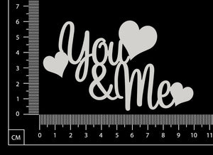 You and Me - White Chipboard