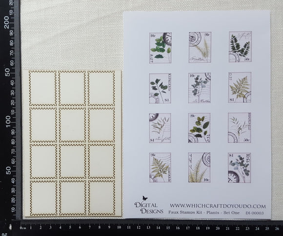 Faux Stamp Kit - Plants - Set One