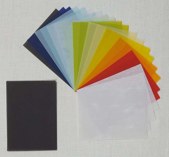 Parchment/Vellum Paper - A5 pack of 24 sheets - Assorted Colours