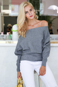 Off Shoulder Sexy Knitting Pullover