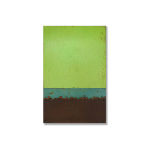 Crispy Green | Metal Wall Art