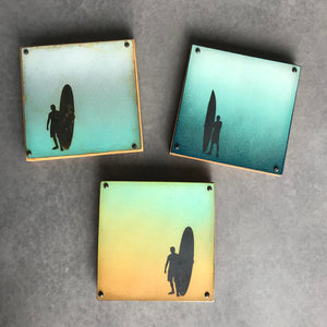 Twilight Surfer | Metal Wall Art