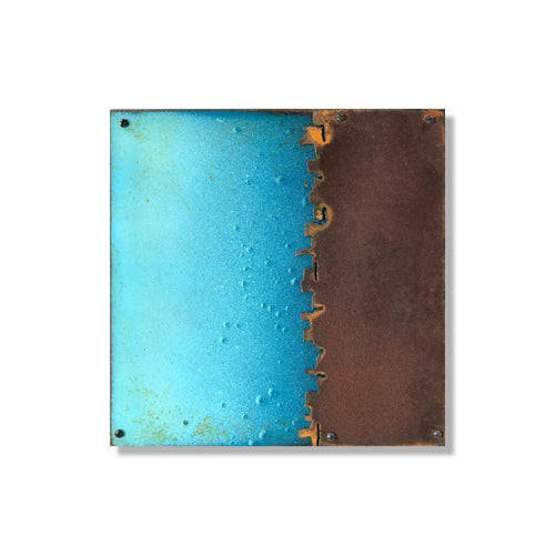 Blue Layered Rust | Metal Wall Art