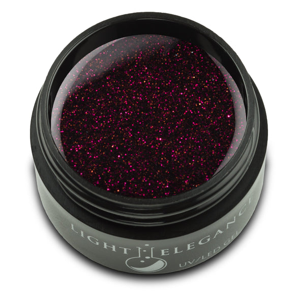 Cabernet UV/LED Glitter Gel - Light Elegance