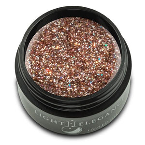 Champagne UV/LED Glitter Gel - Light Elegance