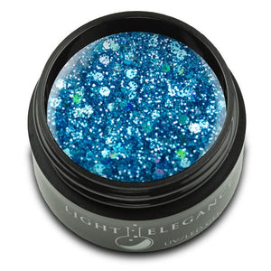 Glacier Blue UV/LED Glitter Gel - Light Elegance