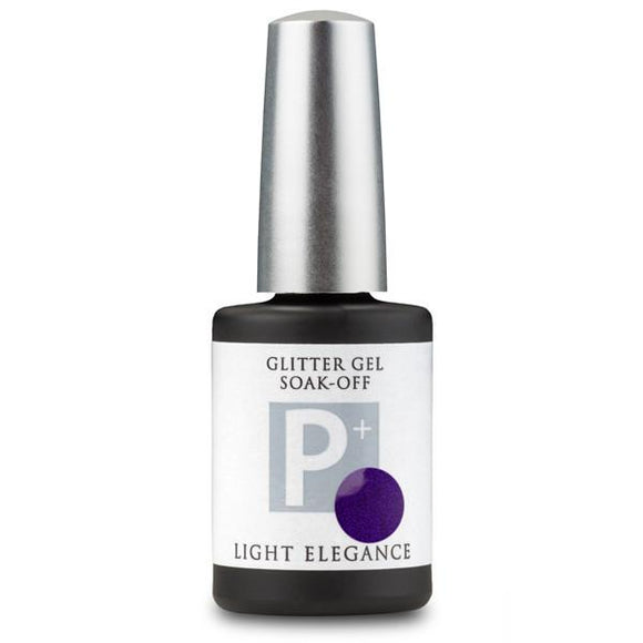 P+ Pure Purple Glitter Gel - Light Elegance