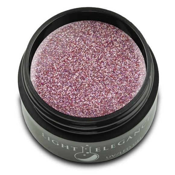 Pink Platinum UV/LED Glitter Gel - Light Elegance