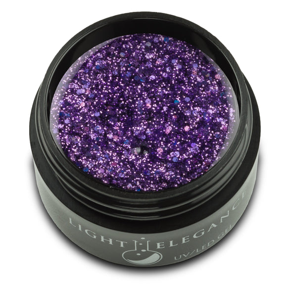 Sour Grapes UV/LED Glitter Gel - Light Elegance