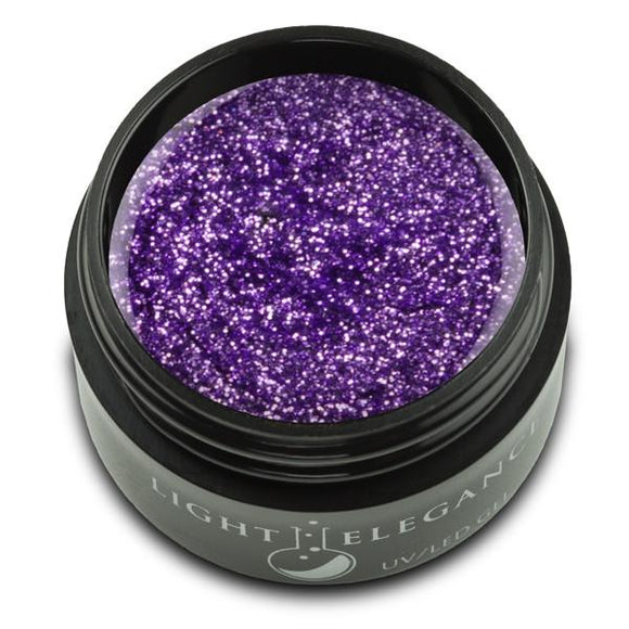 Violet UV/LED Glitter Gel - Light Elegance