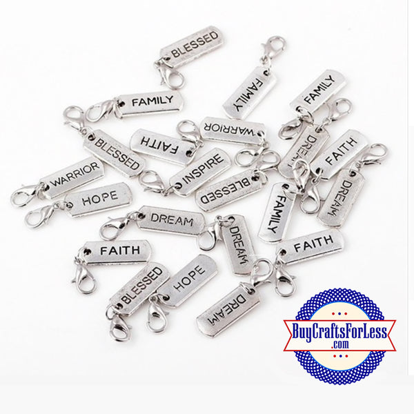 fearless charms, word charms, grace charm, family charms, jewelry charms, believe charm, dream charm, inspire charm, faith charm, hope charm, affirmation charm, Etsy jewelry, Etsy BuyCraftsForLess, gift for her, Richards Crafts, best gift for her, bead bracelet, gift for Mom, Mothers Day gift, #WordCharms