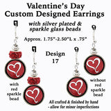 Valentine earrings, Valentines gift earrings, Valentine jewelry, heart jewelry, Valentines Day gift for her, heart design earrings, Valentines Day jewelry, best gift for her, jewelry for Valentines Day, gift for love, jewelry for my Valentine, show her you love her, Etsy jewelry, Etsy BuyCraftsForLess, Richards Crafts