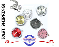 SNAP WATCH Buttons, 18mm INTERCHANGEABLE, Silver Tone