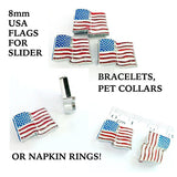 Slider flag charms, Slide flag, 8mm flag, Slider letters, slide charms, Etsy beads, Etsy jewelry, Etsy BuyCraftsForLess, Etsy crafts for less, gifts for her, Etsy gifts for her, Richards Crafts, 8mm bracelets, 8mm slide letter, slide jewelry, rhinestone 8mm charms, rhinestone slider charms, slider rhinestone charms