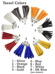 Tassels for crafts and jewelry - 8 colors!