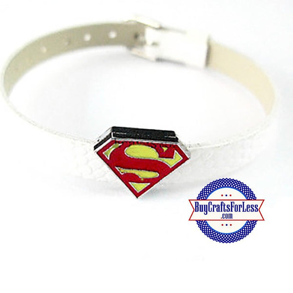Superman slider charm, superman charm, 8mm superman charm, slider letters, slide charms, Etsy beads, Etsy jewelry, Etsy BuyCraftsForLess, Etsy crafts for less, gifts for her, Etsy gifts for her, Richards Crafts, 8mm bracelets, 8mm slide letter, slide jewelry, rhinestone 8mm charms, rhinestone slider charms, slider rhinestone charms
