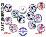 snap buttons, snap button, buttons for snaps, snap buttons for jewelry, cow snap button, cow charm, 18mm snaps, silver snap button, snap button with rhinestone, snap button jewelry, jewelry for snap buttons, jewelry for snaps, Buy Crafts for Less, Etsy snap buttons, BuyCraftsForLess, gift for her, Richards Crafts