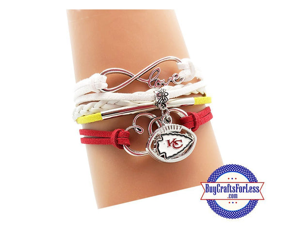 Suede, Leather Football CHaRM BRACeLET, Football GiFT +FREE CHARM