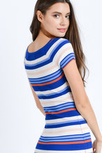 Yearning For Simplicity Striped Dress (navy/multi) back view