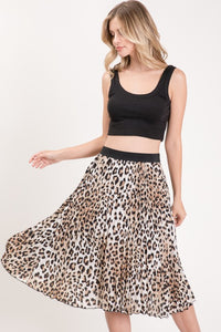 Spot On Pleated Skirt (leopard) front