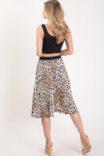 Spot On Pleated Skirt (leopard) back