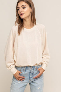 Copy of Best Friend Knit Top (cream) front view