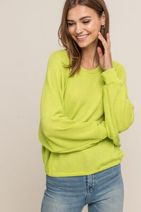 Best Friend Knit Top (lime)