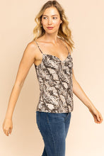 Come Closer Snake Print Cami (beige-black) side view