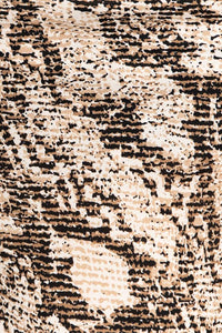 Come Closer Snake Print Cami (beige-black) close up print