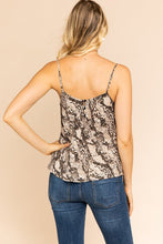 Come Closer Snake Print Cami (beige-black) back view