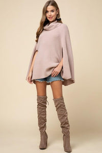 Feeling Powerful Poncho (blush) full length front