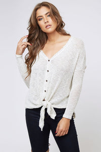 G.O.A.T. Tie Knit Top (oatmeal)