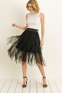 Happy to Be Here Tulle Party Skirt - Black (full)
