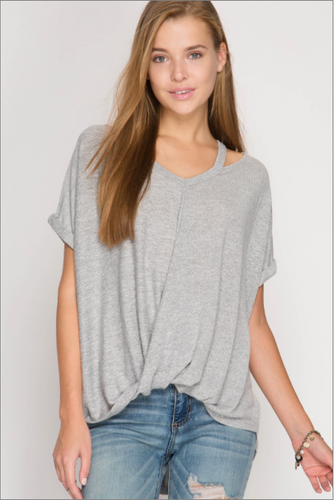 Free to Be Me Casual Top - Grey (front).png