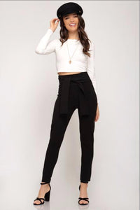 Born a Star Chic Plack Pants (front)