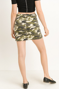 Urban Camouflage Skirt (back)