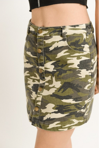 Urban Camouflage Skirt (close)