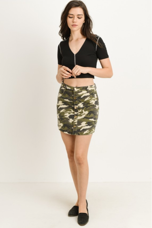 Urban Camouflage Skirt (full)