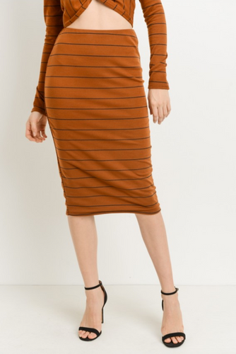 Cinnamon Girl Midi Pencil Skirt