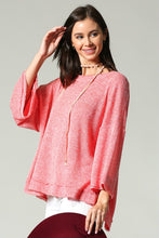 Coral Party-In-Back Spring Sweater (front)