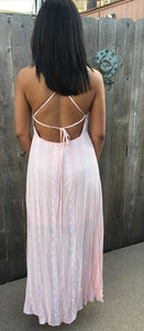Cotton Candy Kind'a Day Maxi Sundress - Pink (back).png