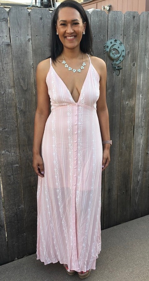 Cotton Candy Kind'a Day Maxi Sundress - Pink (front).png