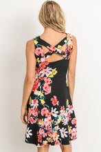 Take Me With You Cassie Dress - Black Floral (back view)
