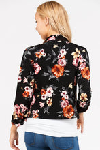 I Got This! Floral Jacket - Black (back view)