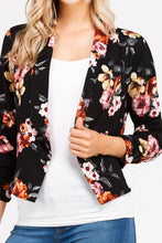 I Got This! Floral Jacket - Black (close up)