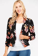 I Got This! Floral Jacket - Black (front view 2)