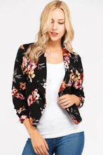 I Got This! Floral Jacket - Black (front view)